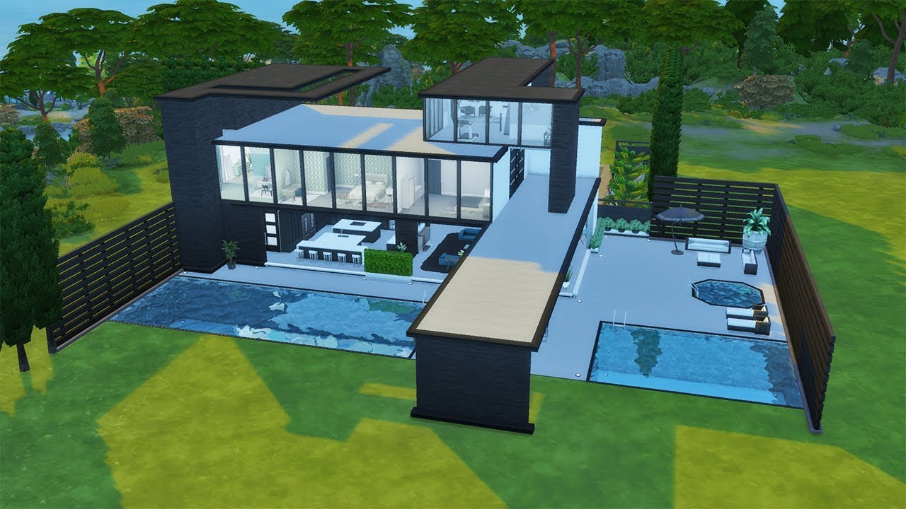 Outdoor Living Modern Mansion | Speed Build | The Sims 4 ... on Cc Outdoor Living id=74219