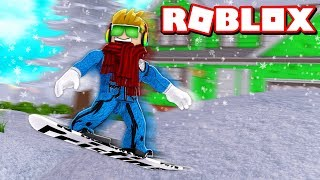 ULTIMATE TRICKS WITH A SNOWBOARD in ROBLOX SHRED