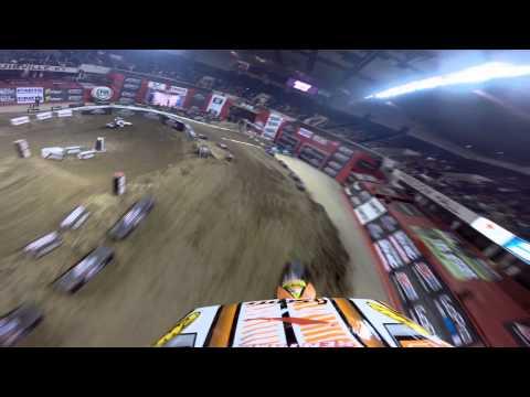 GoPro HD: Daniel Blair AX Lites Heat 1 Win 2014 AMSOIL Arenacross Louisville, KY