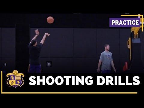 Chris Bosh At Lakers Practice, Tyler Ennis Shooting Around