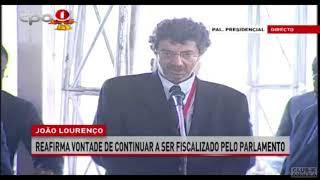 Presidente Angolano João Lourenço fala em entrevista colectiva