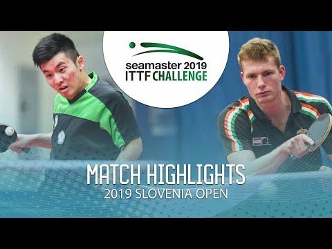 Yang Heng-Wei Vs Sebestyen Kovacs   2019 ITTF Challenge Slovenia Open (Group)