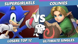 GOML 2020 SSBU - Supergirlkels (Sonic) Vs. Colinies (Young Link) Ultimate Top 12 Losers