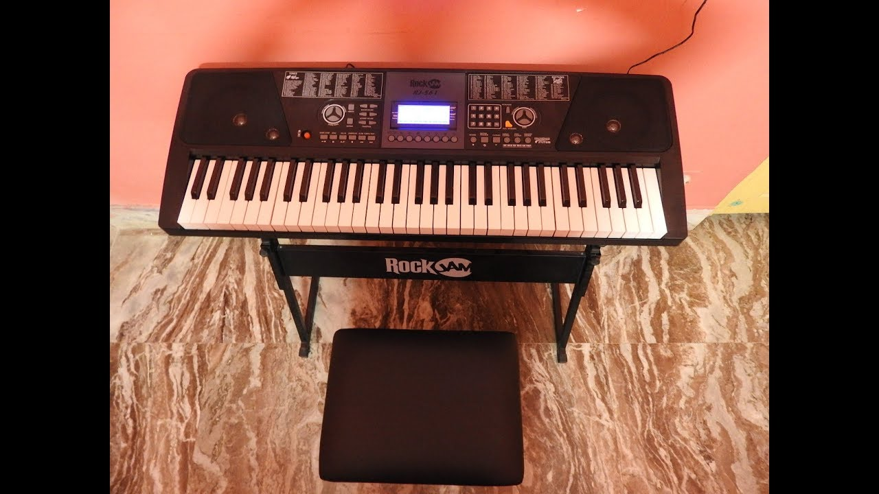 f0cac27f23a ROCKJAM RJ561 61 KEYS ELECTRONIC KEYBOARD REVIEW - YouTube