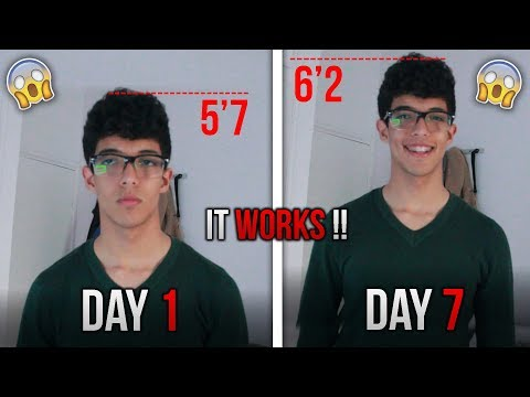 How To Grow Taller In 1 Week - IT WORKS!