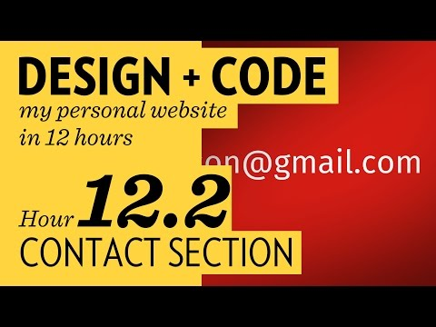 Design + Code – Hour 12.2: Contact Section