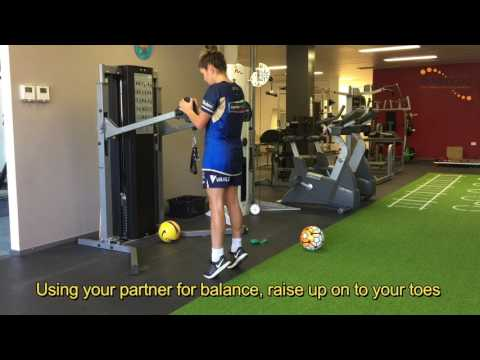 FOOTBALL PREHAB PARTNER CALF RAISES