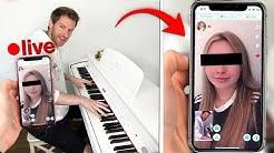 Fremde Frauen live mit Klavier klarmachen! (mit Cengiz und Niek)