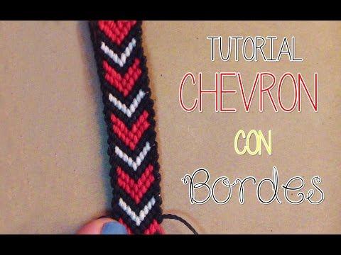》Tutorial pulsera Chevron con bordes │Macrame《 , YouTube