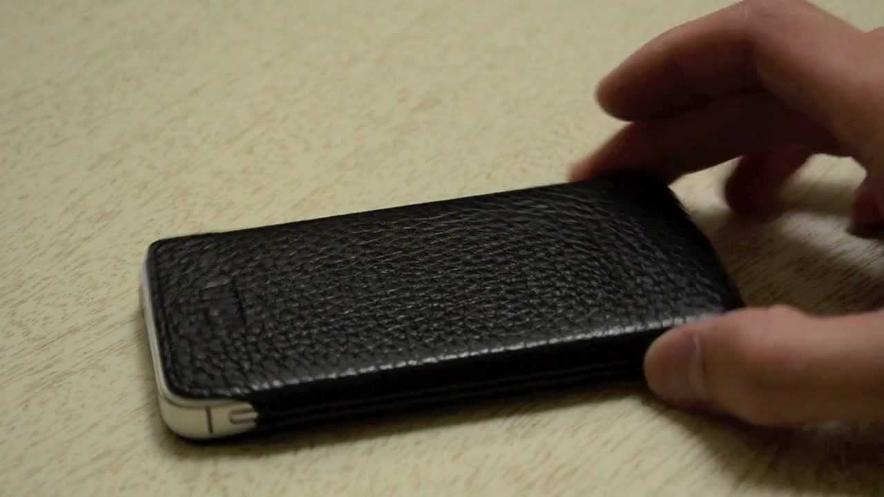 online retailer 1ee27 5a163 Sena UltraSlim Leather Pouch - iPhone 4 & 4S - Quick Unboxing & Review
