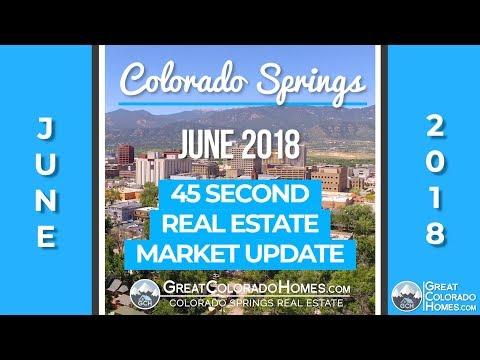 June 2018 - Colorado Springs Real Estate 45 Second Market Report