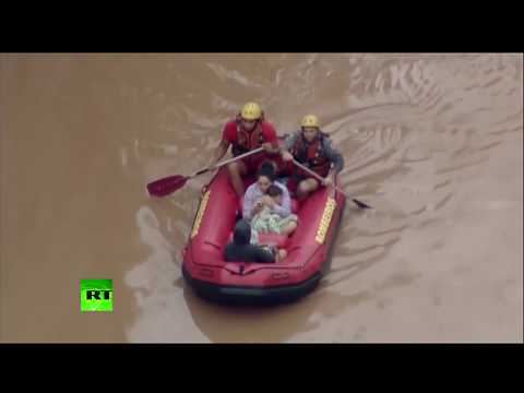 RAW: Flood hits Sao Paulo, leaving at least 11 people dead