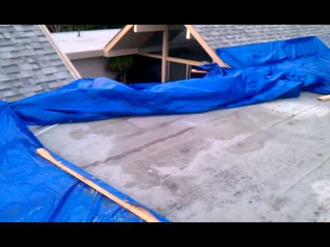 Milener Roof Tarp With Nails Shown Youtube