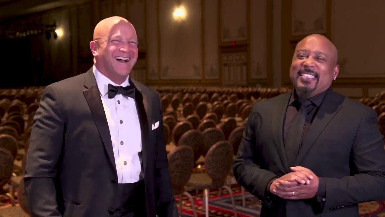 Shark Tank's Daymond John talking with William E  Morgan, DC at Parker  Seminars Las Vegas 2019