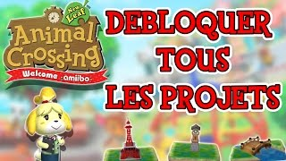 DEBLOQUER TOUS LES PROJETS  - ANIMAL CROSSING NEW LEAF