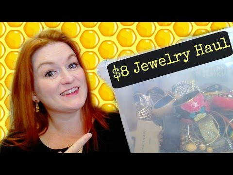 Massive Jewelry Haul! Live Garage Sale Haul – Turning $8 into $?? – Selling Online