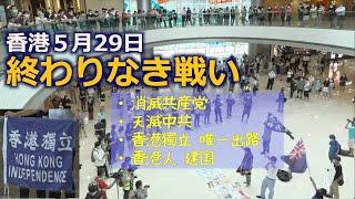 香港の戦いは続いている5月29日 セントラルIFCモールーーあなたとランチ【スローガンは概要欄を】 #天滅中共 中環IFC 和你 Lunch