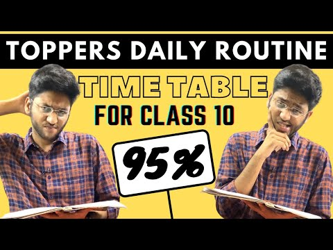 Time Table for Class 10 Students | Follow This Time Table to Score 95% in Class 10 Boards