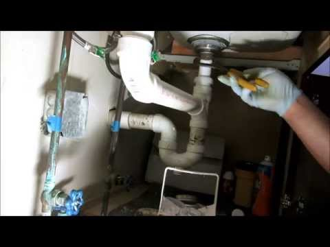 kitchen sink drain pipe replaced:plumbing tips