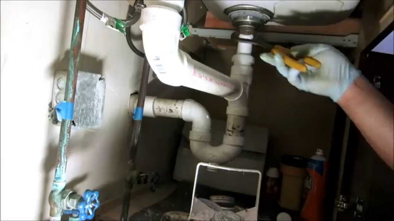 kitchen sink drain pipe replaced plumbing tips