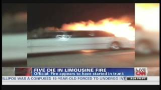 Limousine fire kills five passengers on way to bridal shower in California (May 5, 2013)