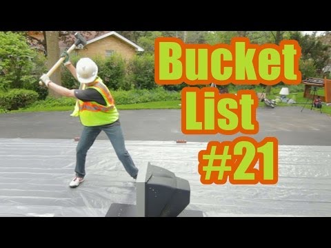 Bucket List #21 | Smash things with a sledgehammer | ProjectOneLife