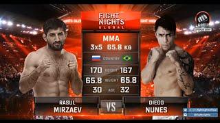 Расул Мирзаев vs. Диего Нуньес / Rasul Mirzaev vs. Diego Nunes