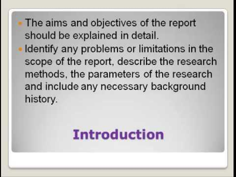 report writing structure youtube