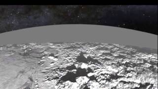 Pluto flyover created from first images