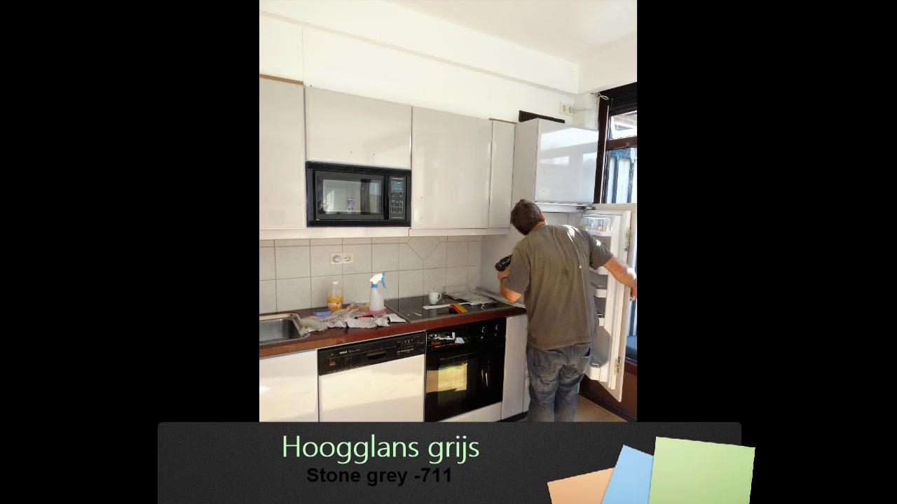 Hoogglans Grijs Keuken : Keuken wrap hoogglans grijs youtube