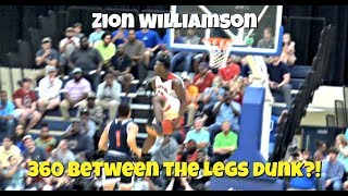 Zion Williamson 360 BETWEEN THE LEGS DUNK?!! He Tried To Break The Internet