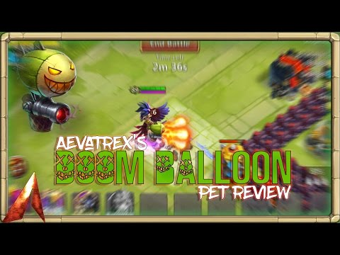 Castle Clash Full Pet Review! Doom Balloon!