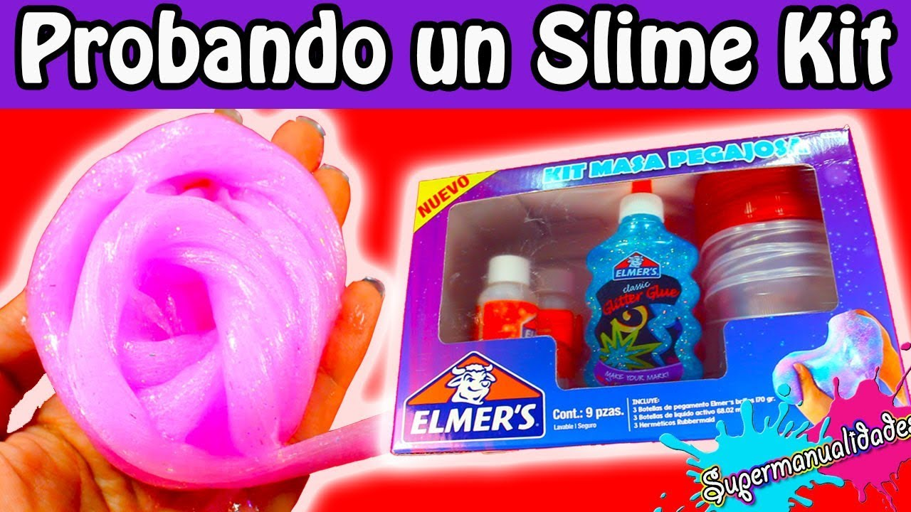 probando un kit de slime elmer 39 s supermanualidades youtube. Black Bedroom Furniture Sets. Home Design Ideas