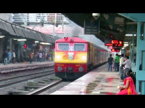 Thumbnail: FAST n FURIOUS : Goa - Mumbai Tejas Express with Smoking KYN WDP3A vs Mumbai Local : INDIAN RAILWAYS