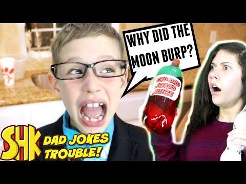 Dad Jokes Trouble! Noah Can't Stop Telling Bad Dad Jokes | SuperHeroKids