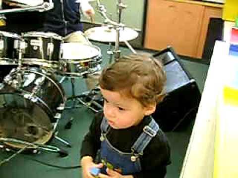Bryan 6 years old playing drumms at Hyannis Elementary School