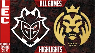 G2 vs MAD Highlights ALL GAMES | LEC Spring 2021 Playoffs Round 2 | G2 Esports vs MAD Lions