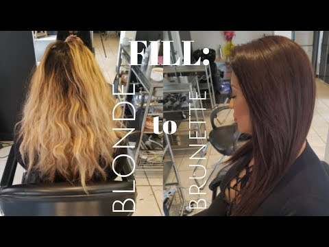 how to properly FILL BLONDE HAIR to CHOCOLATE BRUNETTE - YouTube