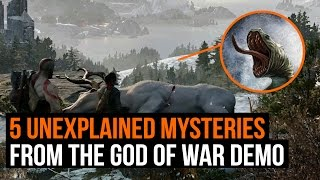 5 unexplained mysteries from the God of War demo