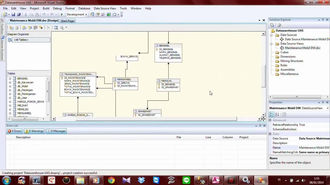 Tutorial membuat data warehouse melalui proses etl dengan.