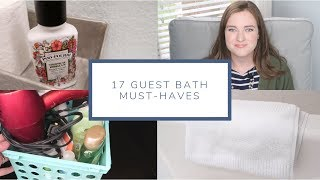 17 Guest Bathroom Must-Haves | House Guest Prep