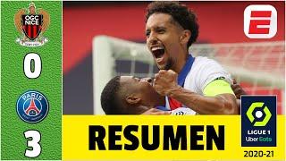 Nice 0-3 PSG goles de Mbappé, Di María y Marquinhos. Keylor protagonista Neymar suspendido | Ligue 1