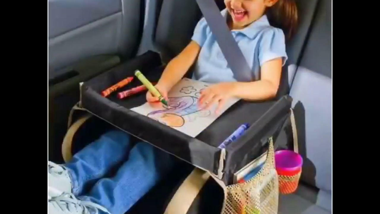 table car seat waterproof tray storage for kids