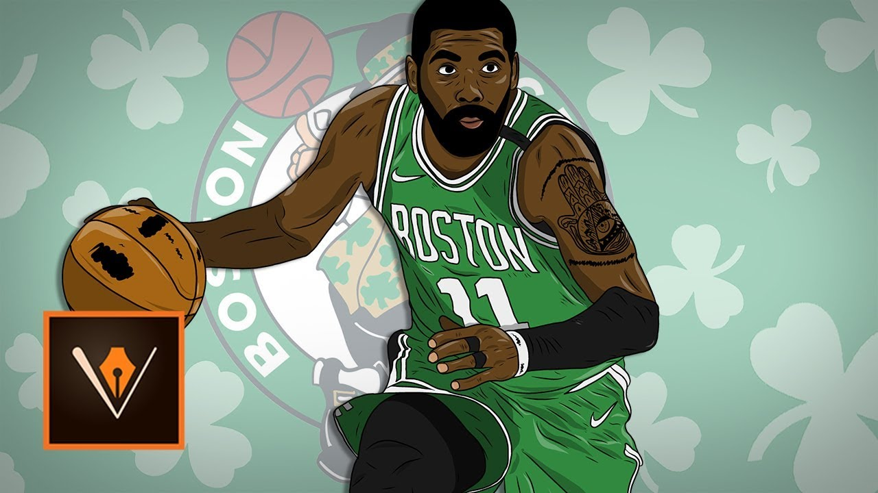 48e7d63d168d Adobe Draw Kyrie Irving Realistic Cartoon Drawing You. Kyrie Irving Cartoon  Style By Rayd3rd
