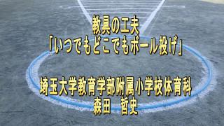 教具の工夫 いつでもどこでもボール投げ 埼玉大学教育学部附属小学校体育科