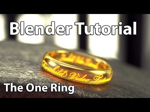 Blender 3d Tutorial: Cinematic Realistic Gold Ring