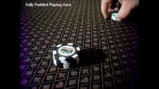 Poker Table w/LED lights, Fully Padded, Folding Legs