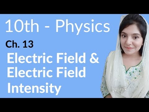 10th Class Physics Ch 13,Electric Field & Electric Field Intensity-Matric Part 2 Physics Chapter 13