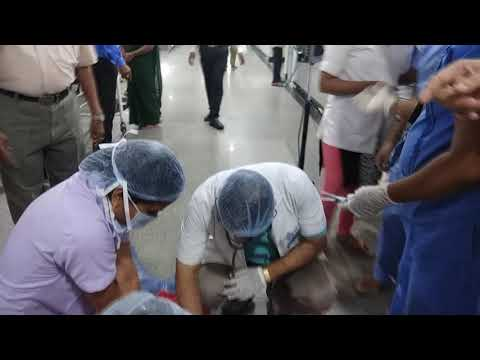 Code Blue mock drill at Queen's nri hospital