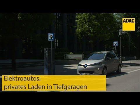 Elektroautos: privates Laden in Tiefgaragen I ADAC 2019
